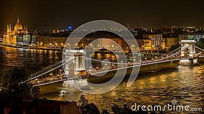 Lighted Bridge During Night Time Free Public Domain Cc0 Image