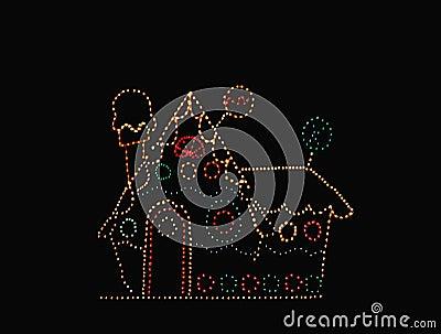 Lighted cottage