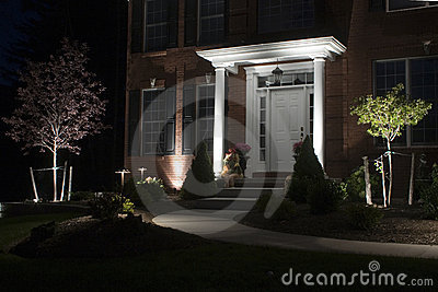 Lighted path to door