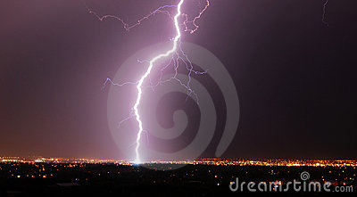 Lightening night in edmonton