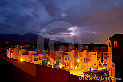 Lightening storm in Spain