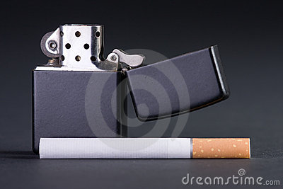 Lighter and cigarette