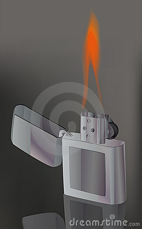 Lighter and fire