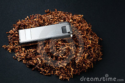 Lighter and tobacco