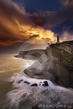 Free Lighthouse After The Storm Royalty Free Stock Photo - 18398735