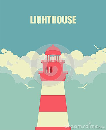 Free Lighthouse Against The Sky Royalty Free Stock Image - 47369136