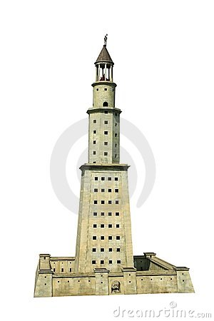 how to draw the lighthouse of alexandria