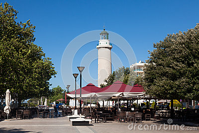 Lighthouse in Alexandroupolis - Greece Editorial Photography
