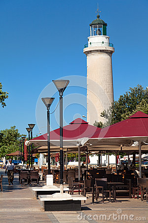 Lighthouse in Alexandroupolis - Greece Editorial Photo