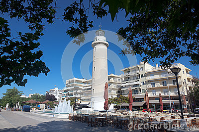 Lighthouse in Alexandroupolis - Greece Editorial Stock Image