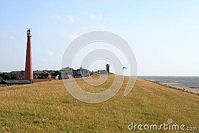 Lighthouse along the dutch North Sea coast