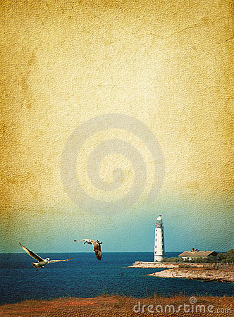 Free Lighthouse And Seagulls Royalty Free Stock Photography - 20119877