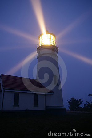 Free Lighthouse At Night Royalty Free Stock Photo - 4235535