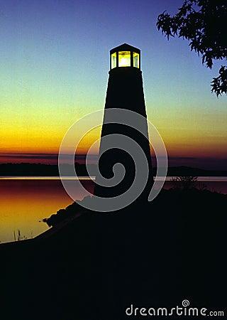 Free Lighthouse At Sunset Stock Image - 700231