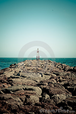 Free Lighthouse At The Edge Of Guadiana In Portugal Royalty Free Stock Photos - 21474678