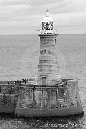 Lighthouse In B&W Royalty Free Stock Photo - Image: 15318345
