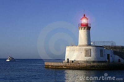 Lighthouse in balearic Islands Ibiza city