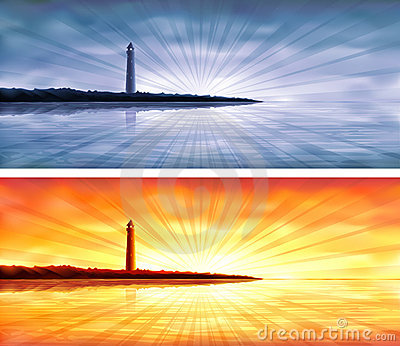 Lighthouse banners