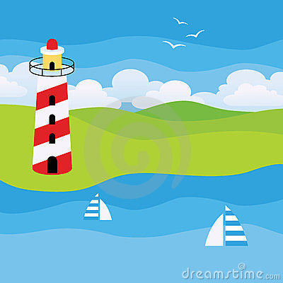 Lighthouse on a Beach