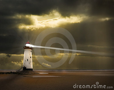 Lighthouse with beam