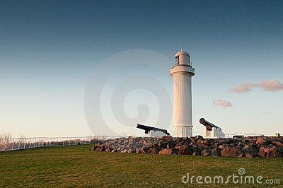Lighthouse and cannons at wollongong