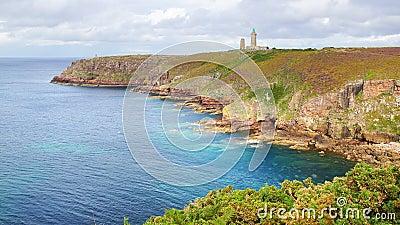 Lighthouse on Cap Frehel. Brittany, France