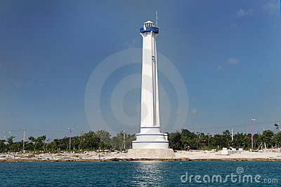 Lighthouse in Cozumel Mexico