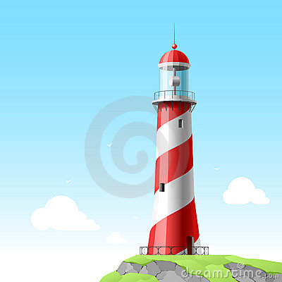 Lighthouse. Detailed illustration.