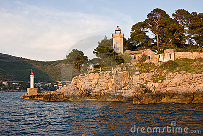 Lighthouse in Dubrovnik Bay