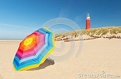 Lighthouse on Dutch wadden island Texel