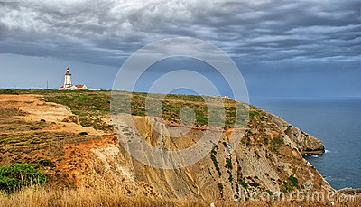 Lighthouse of Espichel cape, Sesimbra, portugal