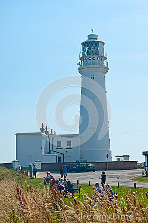 Lighthouse at Flamborough Head Editorial Photography