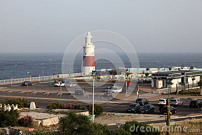 Lighthouse in Gibraltar Editorial Image
