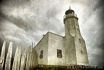 Lighthouse (grunge image)