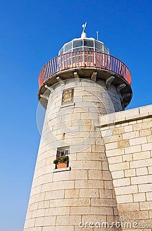 Lighthouse at Howth harbor in Dublin, Ireland