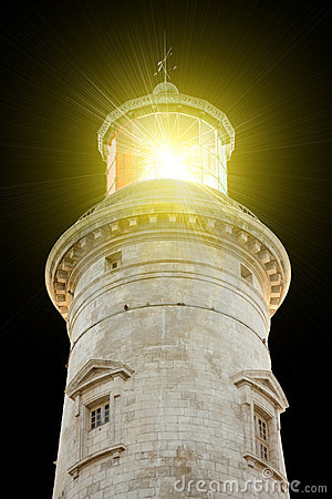 Lighthouse illuminated