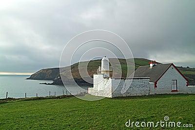 Lighthouse on irish coast