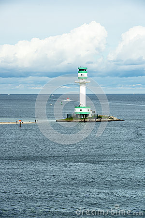 Lighthouse in Kiel, Baltic Sea Editorial Stock Photo