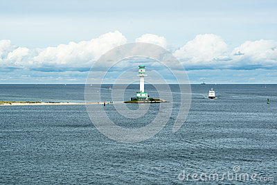 Lighthouse in Kiel, Baltic Sea Editorial Photo