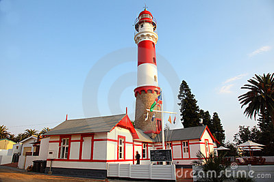 Lighthouse Landmark, Swakopmund, Namibia Editorial Stock Image
