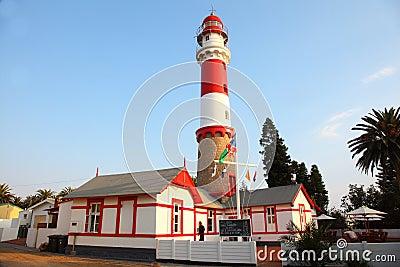 Lighthouse Landmark, Swakopmund, Namibia Editorial Stock Image