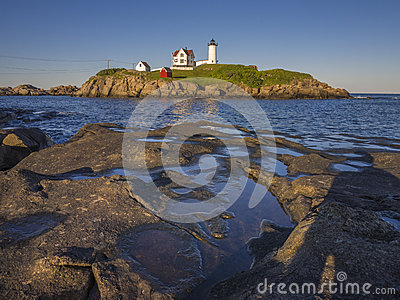 Lighthouse in Maine, USA
