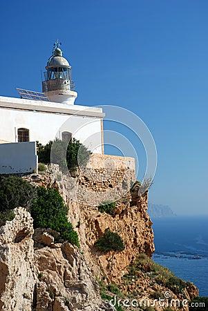 Lighthouse at the Mediterranean Coast