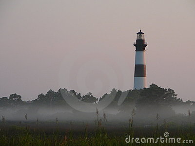 Lighthouse in the morning mist