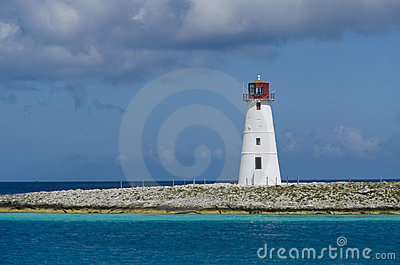 Lighthouse in Nassau harbor