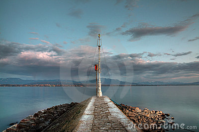 The lighthouse, Nyon, Switzerland