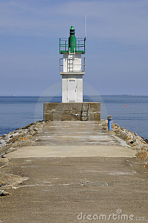 Free Lighthouse Of Sauzon At Belle Ile In France Royalty Free Stock Photos - 15358948