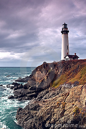 Free Lighthouse On A Cliff And Ocean Royalty Free Stock Photography - 12315527