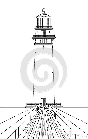 Lighthouse compass clipart outline - ClipartFest