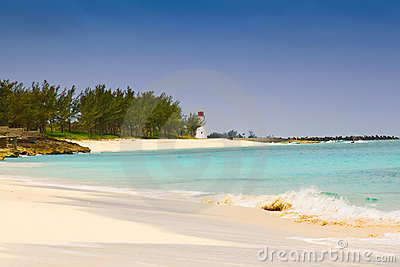 Lighthouse on Paradise Island Beach, Bahamas